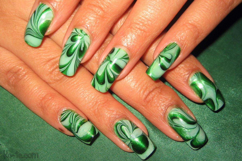 водный зелено салатовый дизайн