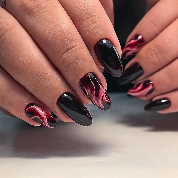 потрясающий яркий черно-красный водный дизайн